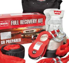 WARN Full Recovery Kit WRK2 The ideal gift for any 4WD enthusiast, this WARN Full Recovery Kit includes:- - Storage Bag - 2 x 3.25T Bow Shackles - 1 x 4.75T Bow Shackle - 8T Snatch Block - 20M Winch Extension Strap - 8T Tree Protector Gloves - 9M 8T Snatch Strap