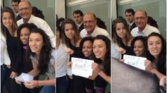 Alckmin cai em pegadinha e vira alvo de protesto de estudantes - Política - Estadão