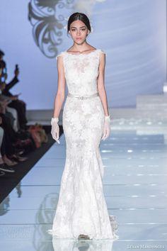 lusan mandongus 2015 bridal cap sleeve wedding dress lm2923b