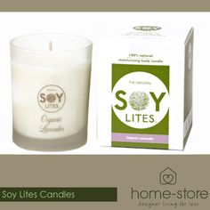 Home-Store stocks these gorgeous green-friendly and all-natural soy based candles. Come pick up yours for a lovely spoil-session at home!