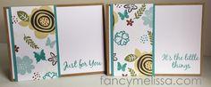 Handstamped Notecards www.fancymelissa.com #itsthelittlethings #novsotm #ctmh