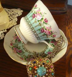 Royal Albert - Hyde Park tea cup ღ
