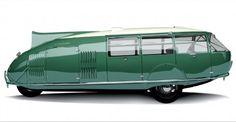 ~1930 - El Dymaxion, del arquitecto estadounidense Buckminster Fuller, supuso un giro radical en el diseño automovilístico. De forma aerodinámica, sus tres ruedas le permitían girar 180 grados sobre sí mismo. El Dymaxion podía alcanzar velocidades de hasta 190 km por hora con un consumo de 7,8 litros cada 100 kilómetros. El ahorro se conseguía situando pequeños motores en cada una de las ruedas. Tanto los motores como el eje delantero habían sido producidos por la empresa Ford.