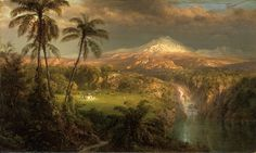 Passing Shower in the Tropics by Frederic Edwin Church from Princeton University…