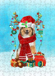 Rough Collie Dog in Snow Jigsaw Puzzle, Christmas, 1000 Pieces Jigsaw Puzzle PrintYmotion #Rough Collie #Dog Lovers gift #Christmas Gift #Christmas Puzzle Lovers Gift, Gift For Lover, Dog Lovers, Rough Collie, Collie Dog, Christmas Puzzle, Time Images, Love Challenge, Snow Dogs