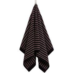 Marimekko - Ujo Hand Towel ($22) ❤ liked on Polyvore featuring home, bed & bath, bath, bath towels, bathroom, kitchen, home textiles, towels, striped bath towels and striped hand towels