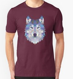 Game Of Thrones Polygonal Dire Wolf   RedBubble Unisex Dark Red TShirt   All Sizes Available for Men and Women @redbubble
