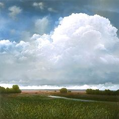 The clouds of Tula Telfair, born in 1961 Canvas. Oil paint