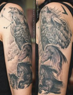 Ravens & Horses by Jason HawesInstagram: Sinners4SaintsUsing Ron Meyers Greywash ink Toronto, ON.