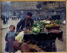 Louis Marie de Schryver (1862-1942) Le marchand de quatre saisons, 1895