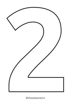 Numeri da Stampare, Colorare e Ritagliare per Bambini | PianetaBambini.it Math For Kids, Numbers, Letters, Montessori, Dyi, Pastel, Cute Pets, Alphabet, Fantasy Character Design
