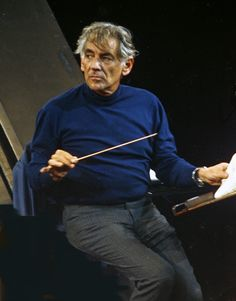 The Baton held by Leonard Bernstein conductor and composer.