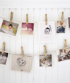 did this for my sister - loved hanging her own baby pictures at her baby shower