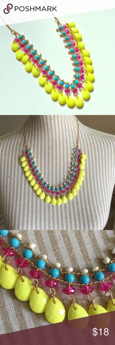 NWOT Neon Necklace Great pop of color! I have it in two diff shades of blue as well. Jewelry Necklaces