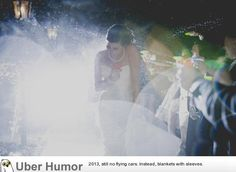 """""""We wanted a creative exit to our wedding, so we went with water guns ..."""""""