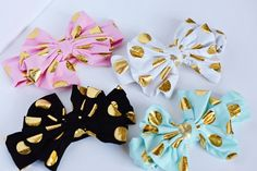 Over-sized Polka Dot Bow Headwrap - White - Bailey's Blossoms - 3