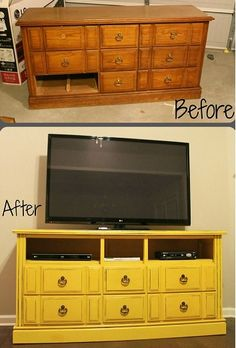 http://bestupcyclingideas.com/upcycled-television-display-cabinet/ Great site for upcycling ideas.