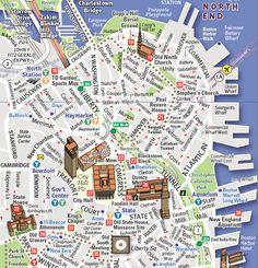 Map of Downtown Boston   Downtown Boston map by Stephan VanDam