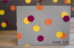 DIY Card Idea - Easy-Peasy Punch Dot Cards. Easily adaptable.