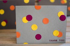 DIY Card Idea - Easy-Peasy Punch Dot Cards. Easily adaptable.