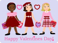Valentine's Day Paper Doll - Free Printable ♥