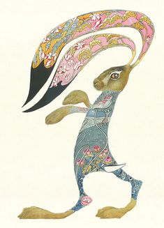 Hare Boxing artwork by Daniel Mackie. This designs reflects my overall colour palette.