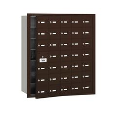 3600 Series Bronze Private Front Loading 4B Plus Horizontal Mailbox with 35A Doors (34 Usable)