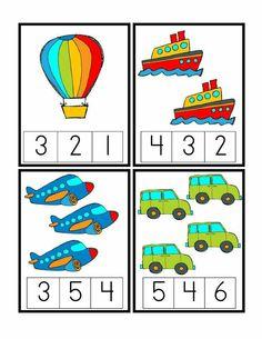 Preschool Printables: Transportation unit including math, writing, etc. Kids Math Worksheets, Preschool Learning Activities, Preschool Printables, Preschool Activities, Transportation Worksheet, Transportation Theme Preschool, Numbers Preschool, Math Numbers, Math For Kids