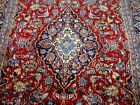 9X6 1940's GORGEOUS AUTHENTIC HAND KNOTTED 70YRS ANTIQU WOOL KASHAN PERSIAN RUG