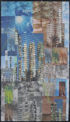 "Eliraz Dalia (IZ) - ""High noon Urban Reflection"" - Concours International Patchwork 2015 - Sainte-Marie-aux-Mines"