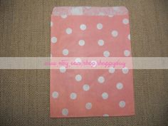 Coral Pink Polka Dots Paper Favor Bags 25 Baby Pink by iHappyDay, $5.95/25 bags