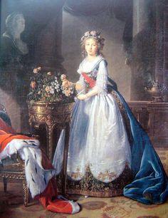 Empress Elizabeth Alexeievna of Russia  Born Princess Louise of Baden  Portrait by Elisabeth Vigee Le Brun
