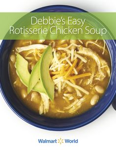 """It's so easy because you can buy the #rotisserie chicken from #Walmart! After a long day on your feet, this is an easy and good meal,"" says Carol P., pharmacy tech at Store 3601 in Crestwood, Ill., about her #recipe for Debbie's Easy Rotisserie Chicken Soup. #simplemeals"
