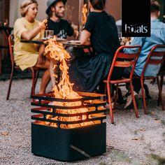 Home Design Decor, House Design, Fire Basket, Metal Yard Art, Small Backyard Design, Wood Burner, Tropical Style, Lake Life, Back Gardens