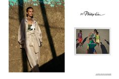Liya Kebede poses in casual separates for 3.1 Phillip Lim's spring 2016 advertising campaign by Viviane Sassen