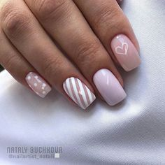 Here are gorgeous nail designs for valentine's day. From the traditional red to pink nail designs and many more. Spring Nails, Summer Nails, Nail Design Spring, Super Cute Nails, Pink Nail Designs, Luxury Nails, Heart Nails, Elegant Nails, Shellac