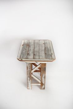 White Barn Wood End Table.