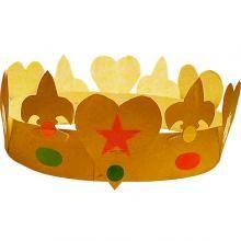 Fabriquer une couronne des rois simple - Tête à modeler