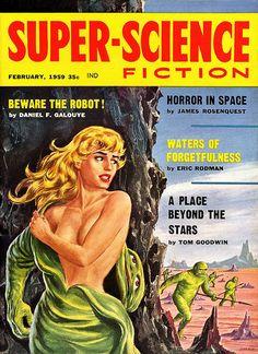 'Emsh' Ed Emshwiller : Super-Science Fiction, Feb.1959 #cosplay