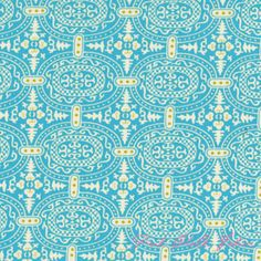 Blue moroccan style fabric