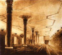 1938. Станция Партизанская. Эскиз.