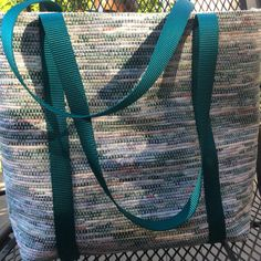 Hand-woven tote bag roomy unlined commuter by tangledupinbluesprgs