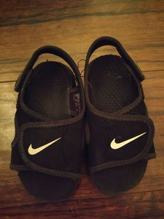 7af5911e5b183 Nike Sunray Adjust Black White Sandals Childrens Size 7  fashion  clothing   shoes