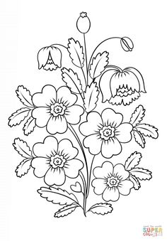 Painting Flowers coloring page from Petrykivka Painting category. Petrykivka Painting Flowers coloring page from Petrykivka Painting category.,Petrykivka Painting Flowers coloring page from Petrykivka Painting category. Floral Embroidery Patterns, Hand Embroidery Designs, Fabric Painting, Painting Flowers, Printable Crafts, Free Printable Coloring Pages, Colouring Pages, Oeuvre D'art, Animal Drawings