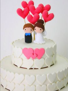 Bambole per la torta nuziale fidanzato fidanzata di MarigurumiShop