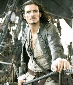 "Orlando Bloom plays Will Turner in ""The Pirates of the Carribean. Film Pirates, The Pirates, Pirates Of The Caribbean, Will Turner, Captain Jack Sparrow, Johny Depp, Pirate Life, Hommes Sexy, Actor"