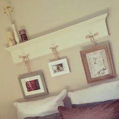 Diy Shelf headboard