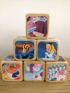 Alice in Wonderland // Childrens Book Blocks