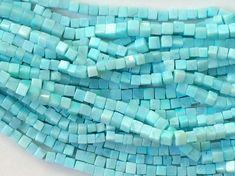 WHOLESALE 5 Strands Aqua Blue Opal Beads Blue by gemsforjewels
