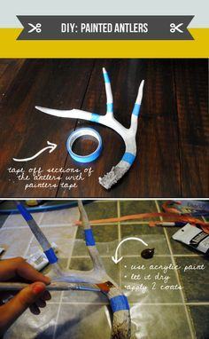 DIY Painted Antlers @Erica Cerulo McConnell